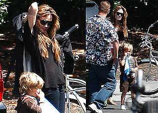 Pictures of Angelina Jolie in LA With Zahara and Shiloh