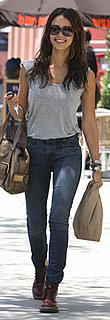 Jessica Alba Wears High-Waisted Skinny Jeans in LA