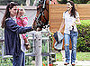 Pictures of Jennifer Garner and Seraphina and Violet Affleck Visiting Horses in LA