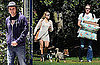 Pictures of Engaged Kristen Bell and Dax Shepard at Park With Dogs