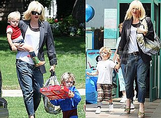 Pictures of Possibly Pregnant Gwen Stefani in LA With Sons Kingston and Zuma Rossdale