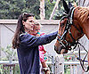 Slide Picture of Jennifer Garner and Seraphina Affleck With Horse
