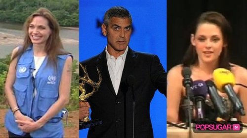 Video of Angelina Jolie in Ecuador, Video of George Clooney Acceptance Speech, and Video of Kristen Stewart in Sweden 2010-06-21 23:00:23