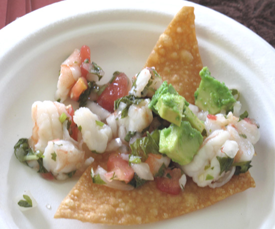 Thai shrimp ceviche