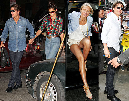 Pictures of Tom Cruise, Katie Holmes, and Cameron Diaz Together in NYC 2010-06-22 06:00:00