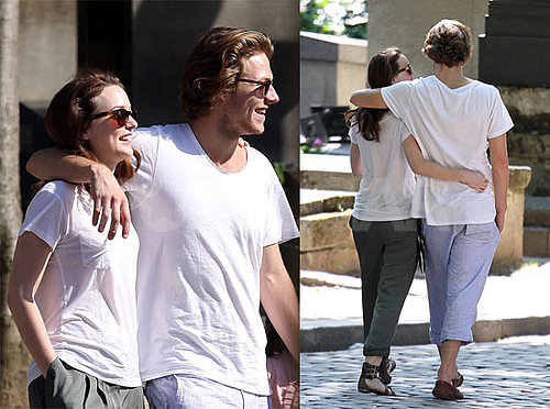 Pictures of Leighton Meester on a Romantic Walk With Luke Bracy in Paris