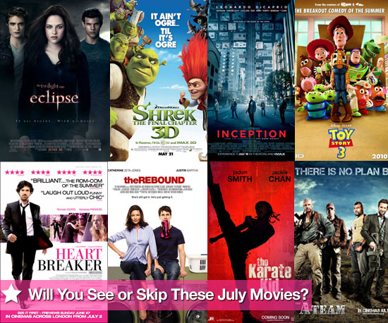 Movies Films Released at UK Cinemas in July 2010 Including Eclipse