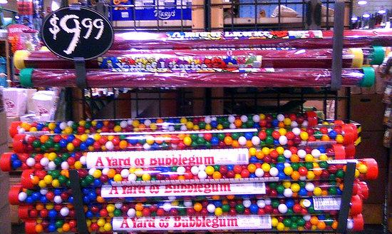 Giant Twizzlers & Gum Balls
