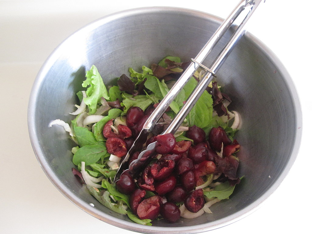 Bitter Greens With Cherry Beer Vinaigrette