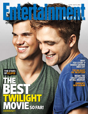 Robert Pattinson,Taylor Lautner and Kristen Stewart do EW-july 2010