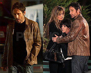 Pictures of David Duchovny on Californication Set