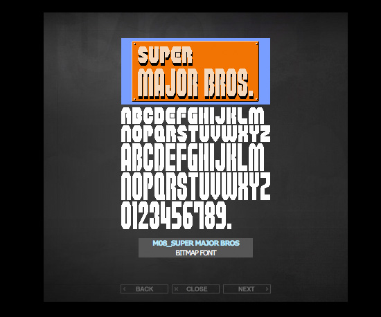 Free Video Game Fonts From Miffies
