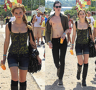 Photos of Emma Watson at Glastonbury Music Festival