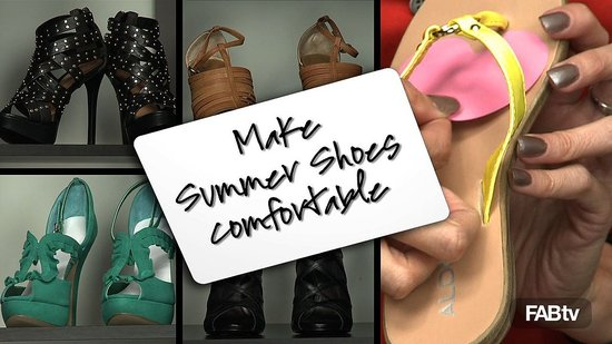 Learn How To Make Your Summer Shoes Comfortable