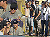Zac Efron, Demi Moore, Ashton Kutcher, and Jack Nicholson at the Dodgers Game