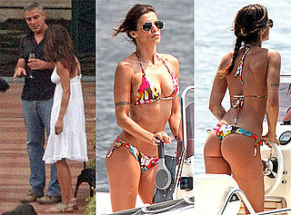 Pictures of George Clooney and Elisabetta Canalis in a Thong Bikini