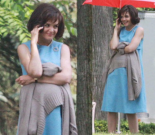 Pictures of Katie Holmes as Jackie Kennedy!