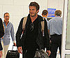 Slide Picture of David Beckham at Airport in Nice