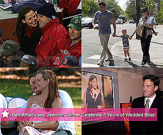 Pictures of Jennifer Garner and Ben Affleck on Their Fifth Wedding Anniversary