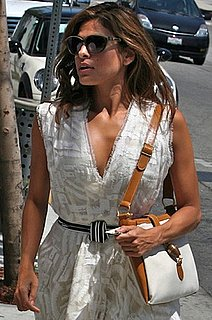 Pictures of Eva Mendes With Two-Tone Bag