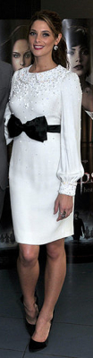 Ashley Greene in White Azzaro Dress at Belgium Eclipse Premiere
