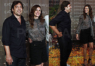 Pictures of Javier Bardem and Julia Roberts Promoting Eat, Pray, Love in Cancun