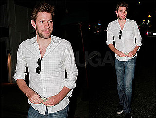 Pictures of John Krasinski Leaving Dinner at Dan Tana's Restaurant in LA
