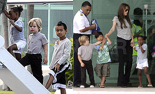 Pictures of Angelina Jolie Leaving Cancun With Maddox, Pax, Shiloh, and Zahara