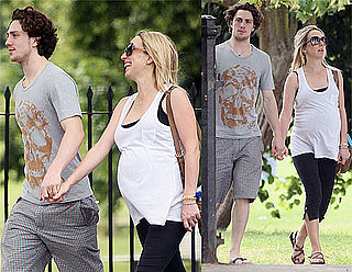 Pictures of Aaron Johnson and Pregnant Sam Taylor-Wood Out In London Sunshine