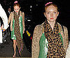 Photos of Lily Cole Out in London with Leopard Print Louis Vuitton Scarf