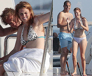Pictures of Princess Beatrice in a Bikini Summer 2010 With Boyfriend Dave Clark and Friends