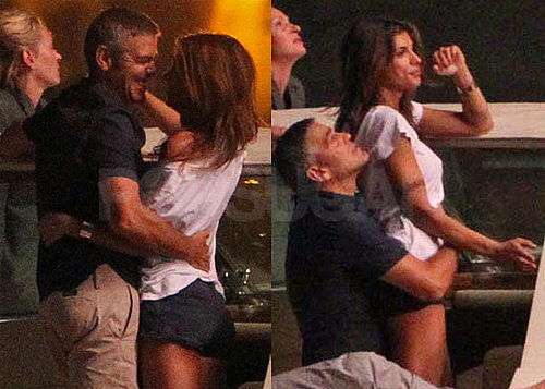 Pictures of Elisabetta Canalis and George Clooney in Italy Over Fourth of July
