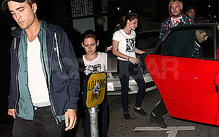Pictures of Robert Pattinson and Kristen Stewart Leaving a Sam Bradley Show in LA