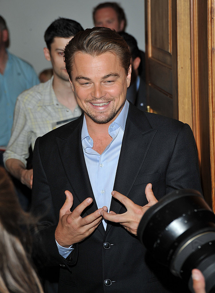 Leonardo DiCaprio at Inception Photocall in London