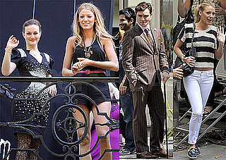 Pictures of Leighton Meester, Ed Westwick and Blake Lively Filming in Paris