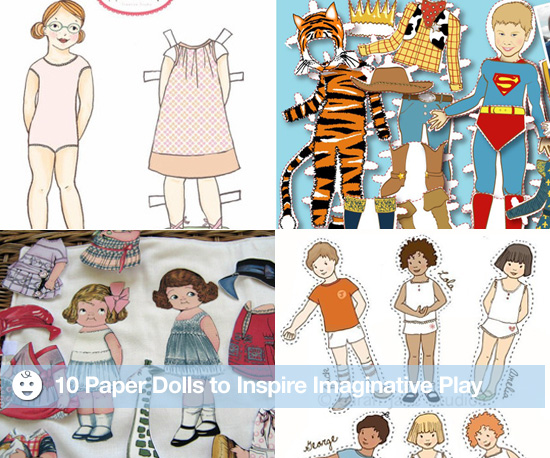 10 Paper Dolls to Inspire Imaginative Play
