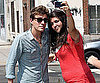 Slide Picture of Xavier Samuel Posing With Fan in New York