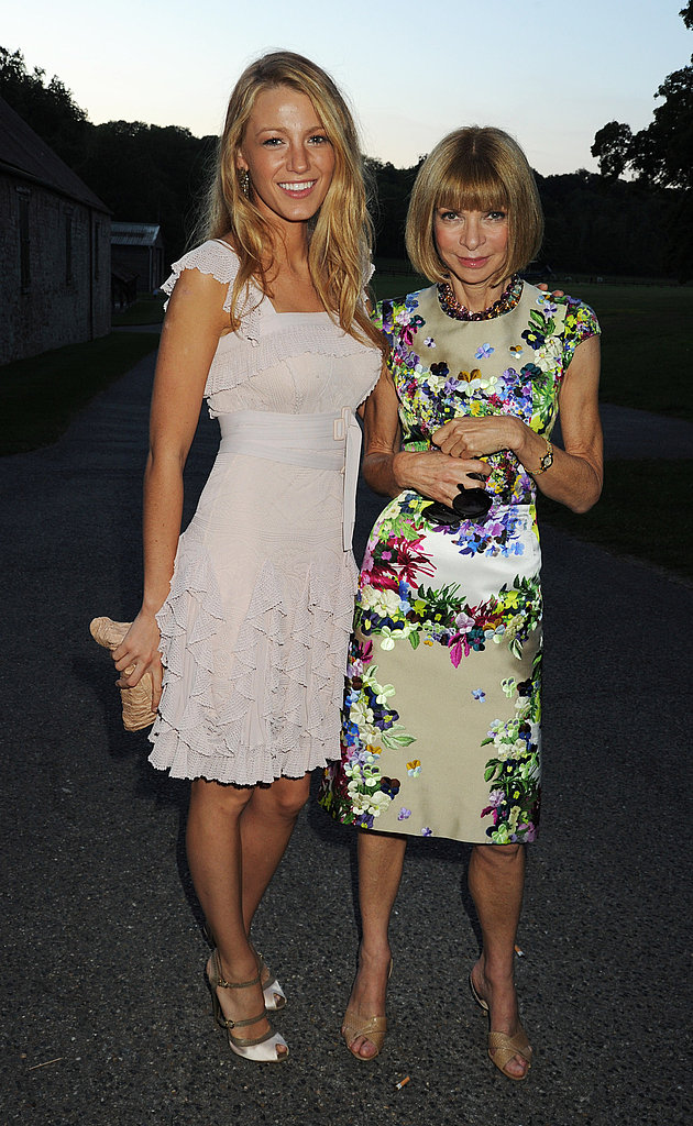 Blake Lively in Valentino, Anna Wintour in Carolina Herrera.