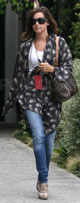 Ashley Tisdale Wears Winter Kate Kimono in LA