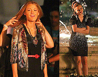 Pictures of Blake Lively Falling Into a Water Fountain in Paris