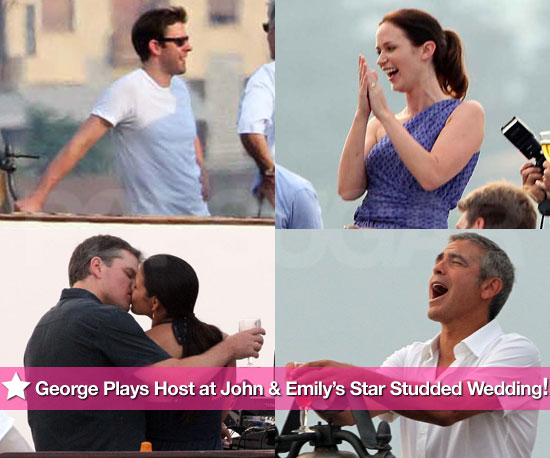 Pics: George Clooney Plays Host at John Krasinski and Emily Blunt's Star-Studded Wedding!