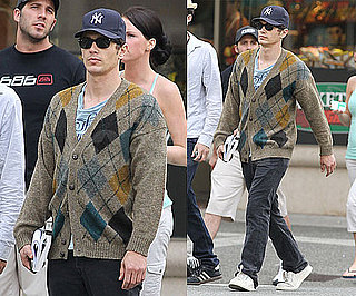 Pictures of James Franco Walking in Canada