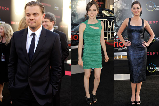 Leonardo DiCaprio, Kellan Lutz, Ellen Page, Marion Cotillard at Inception Premiere in LA
