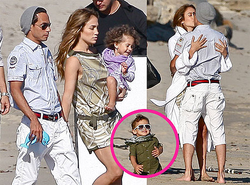 Pictures of Jennifer Lopez and Marc Anthony Kissing on the Beach in Malibu