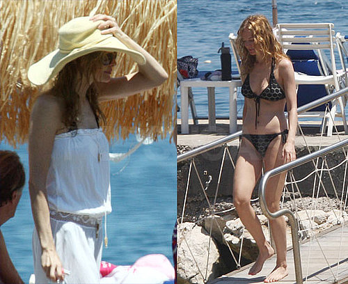 Heather Graham Wears an Itsy Bitsy Polka Dot Bikini in Italy