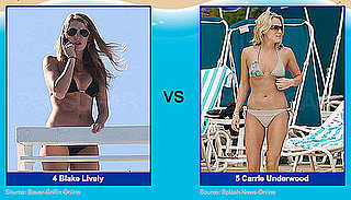 Bikini Pictures of Carmen Electra and Megan Fox