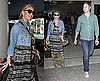 Pictures of Jessica Simpson and Eric Johnson Arriving Back in California