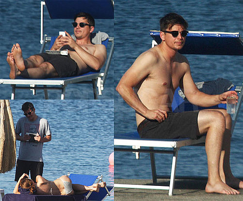 Pictures of Shirtless Josh Hartnett in Italy