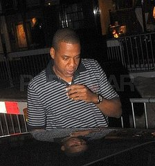 Jay-Z Returns From London and Hits the Recording Studio in NYC