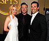 Slide Picture of January Jones, Jason Sudeikis, and Jon Hamm at the ESPYs